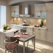 朴素宜家的开放式厨房装修设计效果图