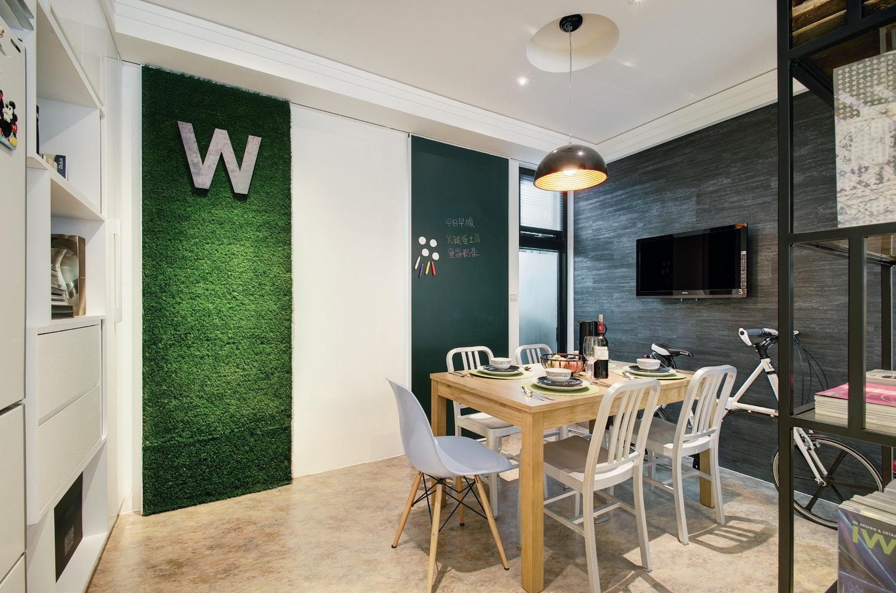 个性十足的餐厅背景墙设计装修效果图