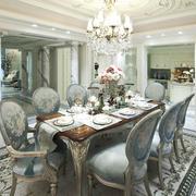 古典法式风格别墅餐厅设计装修效果图