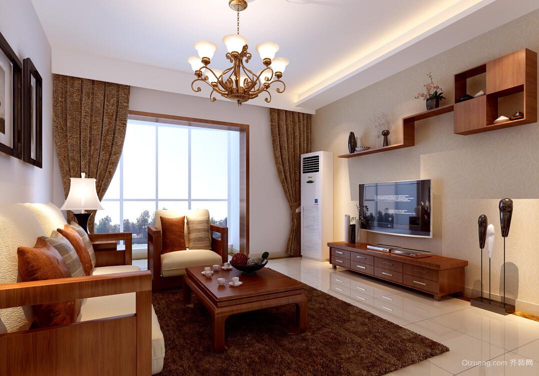 现代美式风格客厅电视背景墙效果图片