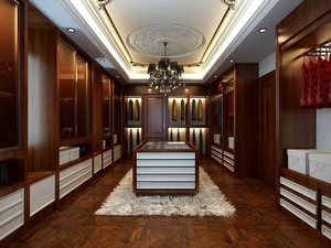 奢华大户型别墅美式风格衣帽间设计图