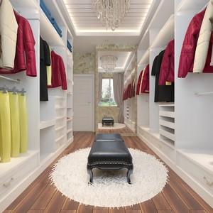 精美法式风格单身公寓衣帽间设计图