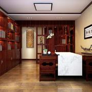 古朴高雅的大户型中式书房设计效果图