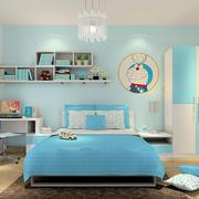 简约水蓝色小户型儿童房装修效果图