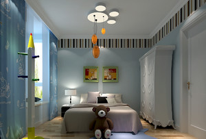 三居室大户型简欧风儿童房装修效果图