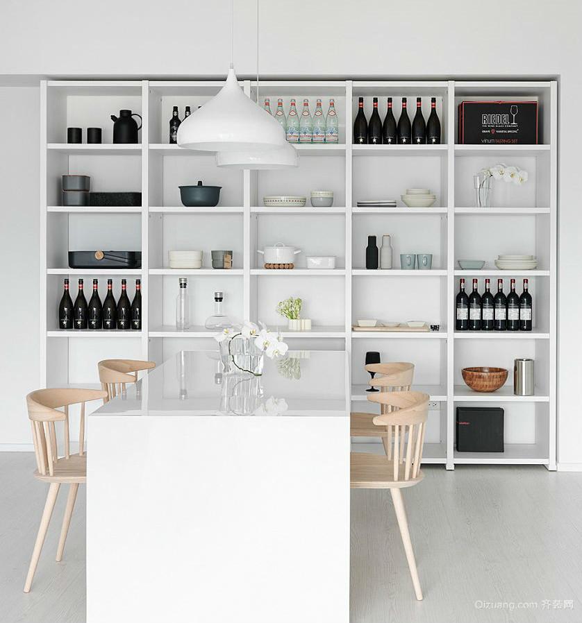 极致简约的北欧风酒柜装修设计效果图