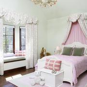 法式小公主房卧室飘窗设计装修效果图
