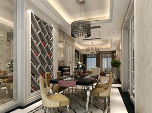 大型后现代风格餐厅酒柜装修设计效果图