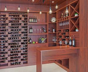 宜家精美的实木酒柜装修设计效果图