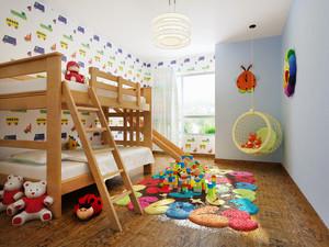 现代简约风格彩色儿童房装修效果图