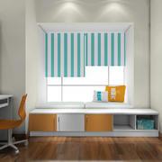 2016两居室书房简约飘窗设计装修效果图