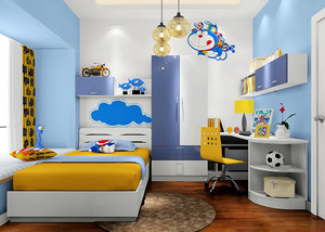 126平米蓝色男孩子儿童房装修效果图