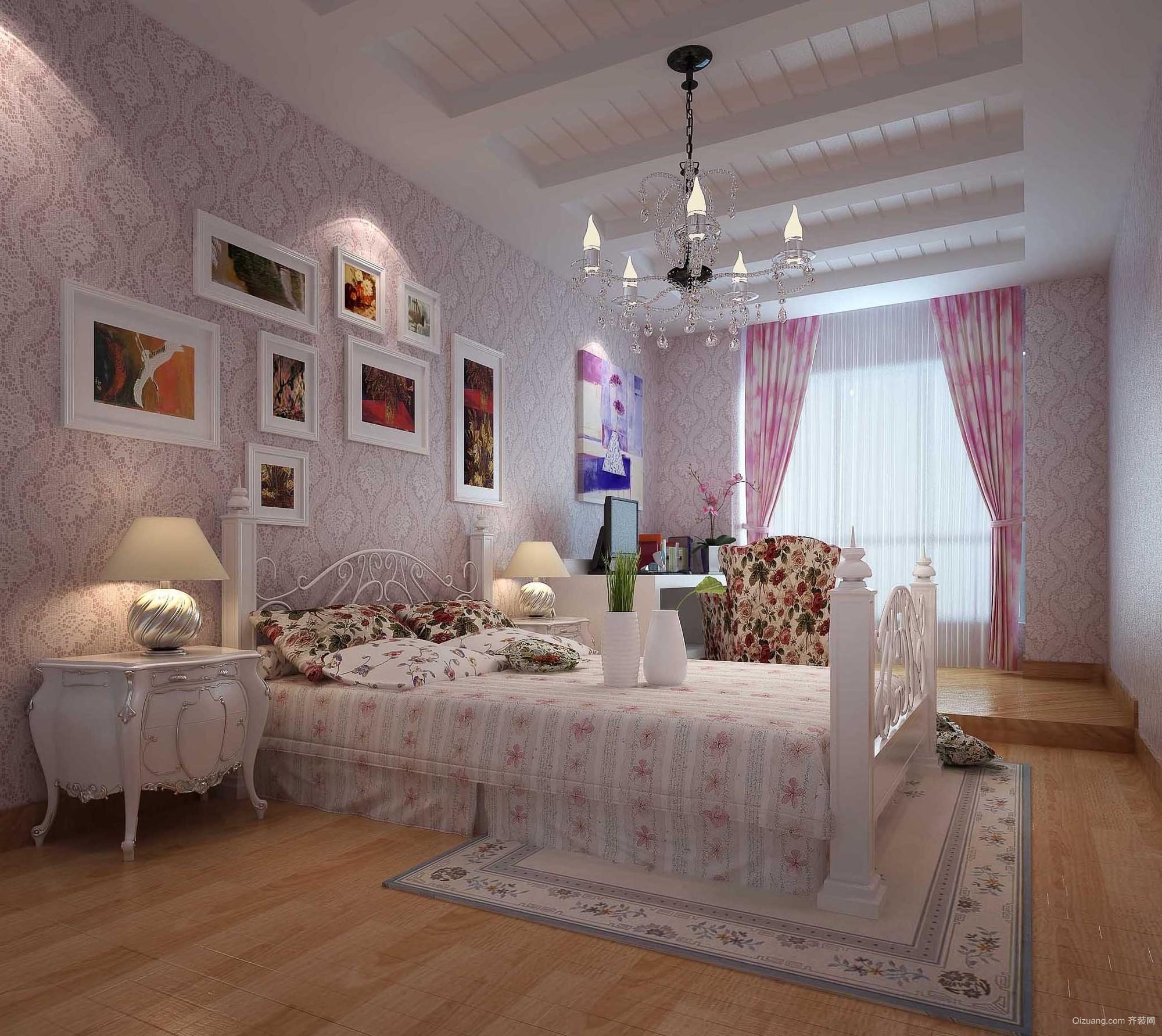 超大型粉色田园风格儿童房装修效果图