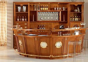 古典复式楼家居吧台酒柜装修设计效果图