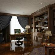 精致大别墅古典风格书房设计效果图