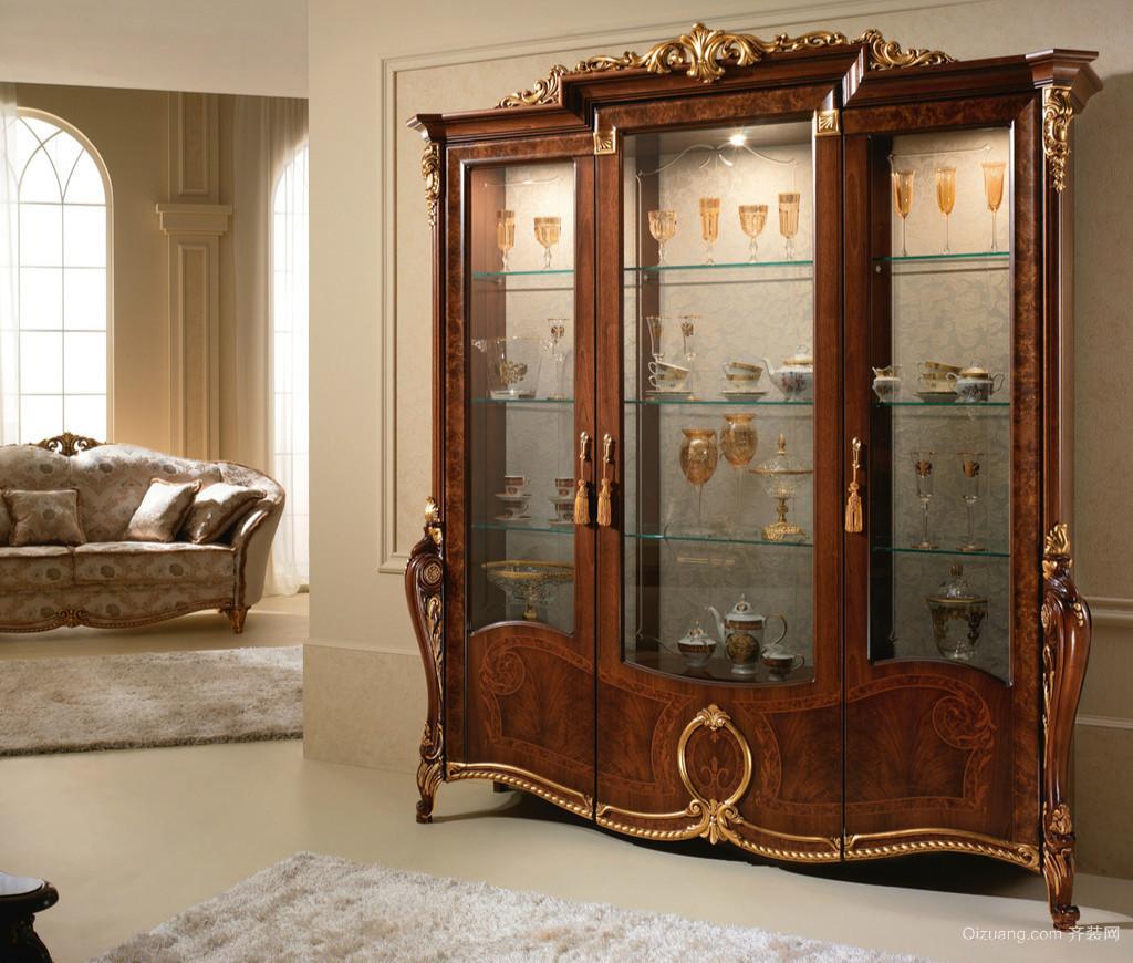 别墅古典欧式风格酒柜装修设计效果图