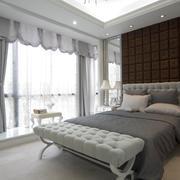 简欧143平米家居卧室飘窗设计装修效果图