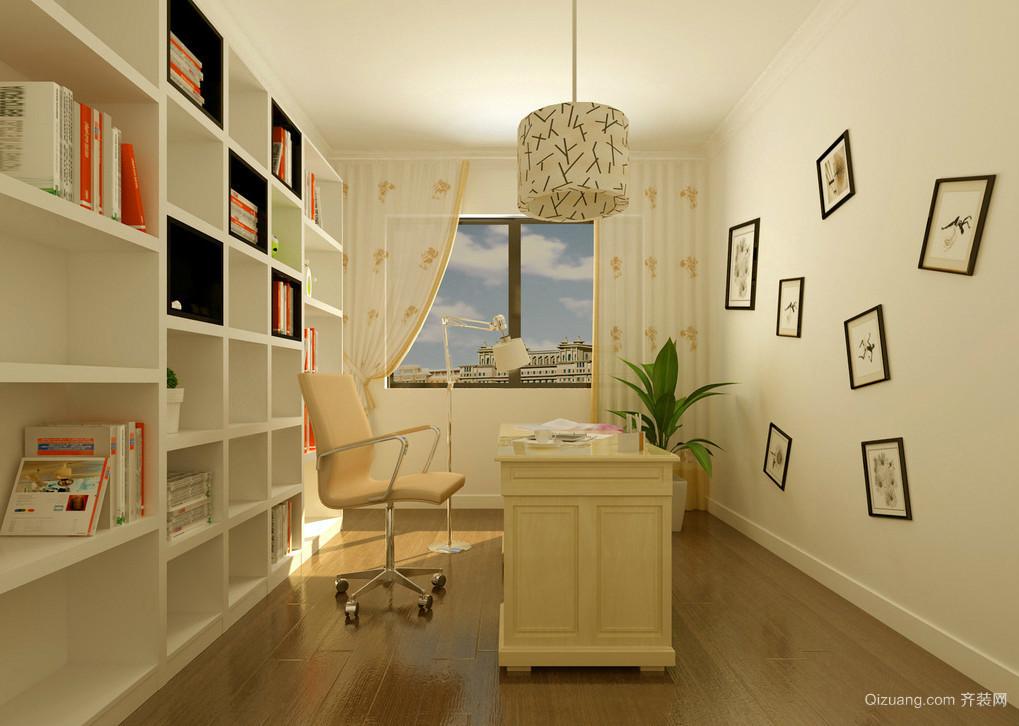 100平米新房田园风格书房设计效果图