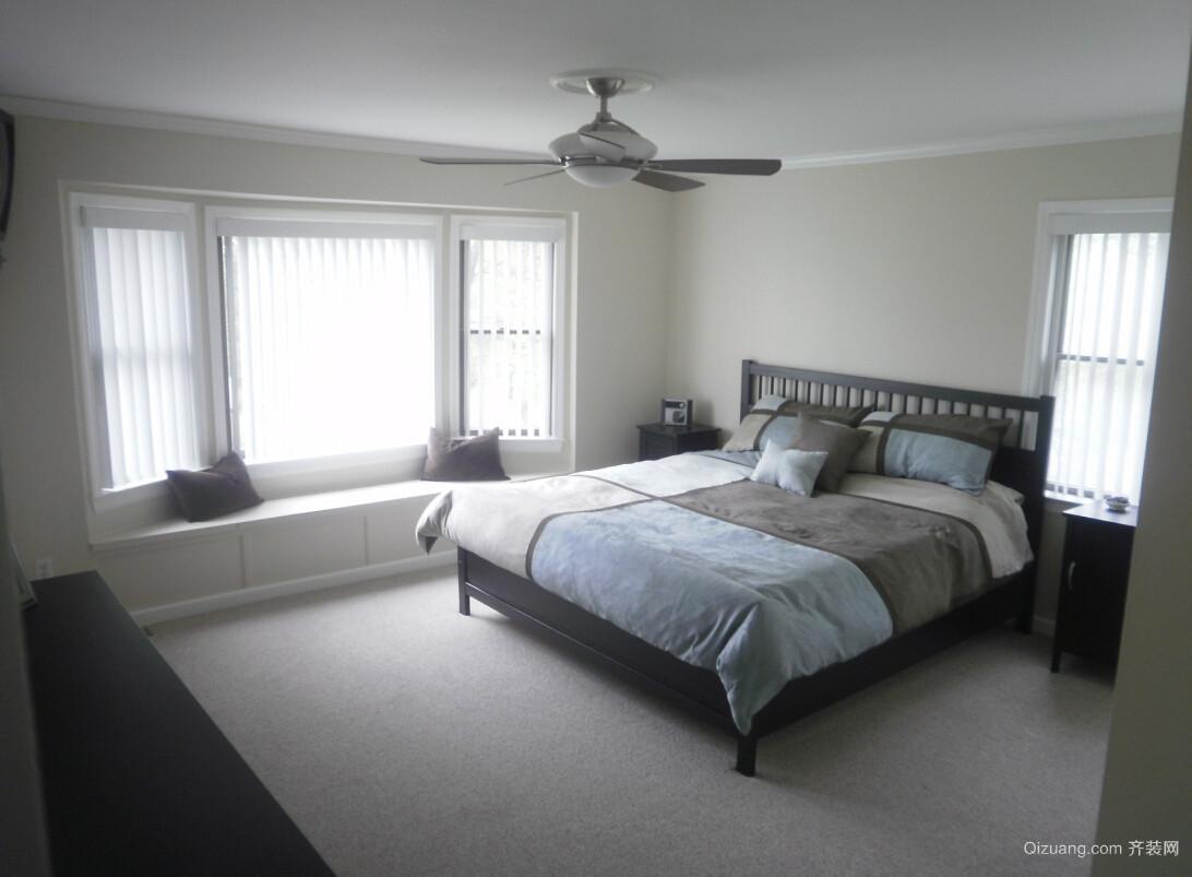 精致大户型卧室飘窗设计装修效果图