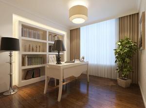 2016清新韩式风格小书房设计效果图