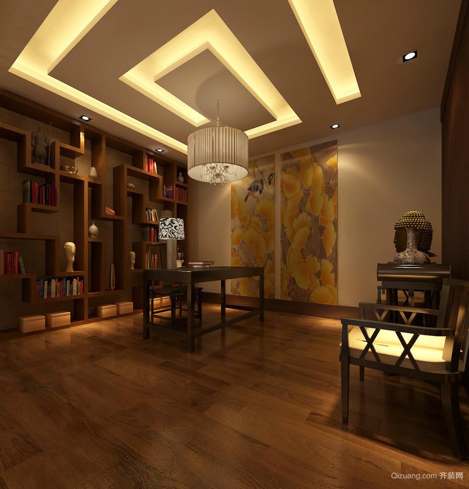 儒雅19平米中式风格书房设计效果图