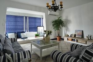 地中海风格小客厅飘窗设计装修效果图