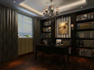 大户型别墅古典家居书房设计效果图