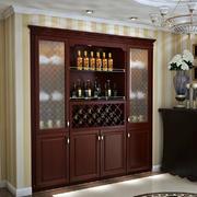 2016美式入墙式酒柜装修设计效果图