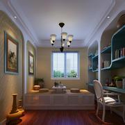 17平米地中海风格书房榻榻米装修效果图