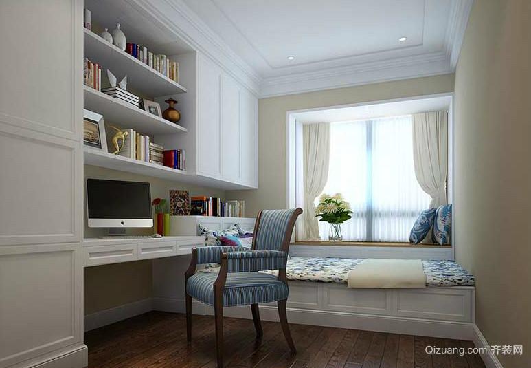 14平米韩式风格小书房榻榻米装修效果图