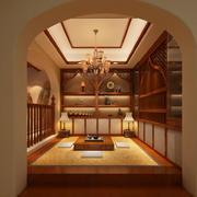 2016东南亚风格复式楼榻榻米装修效果图