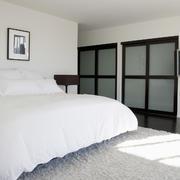 20㎡北欧风白色小卧室设计装修效果图
