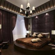 东南亚风别墅大卧室榻榻米床装修效果图