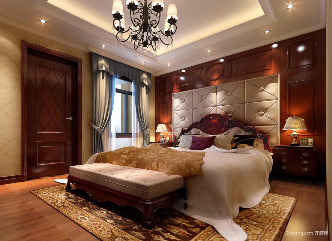 奢华美式风格别墅大卧室装修效果图