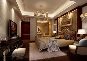 古典奢华的大户型家居卧室装修效果图
