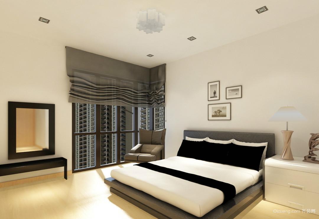 66平米小型公寓卧室榻榻米床装修效果图