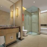 五星级酒店现代卫生间隔断设计效果图