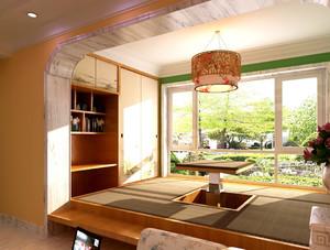 三居室中式风格阳台榻榻米装修效果图