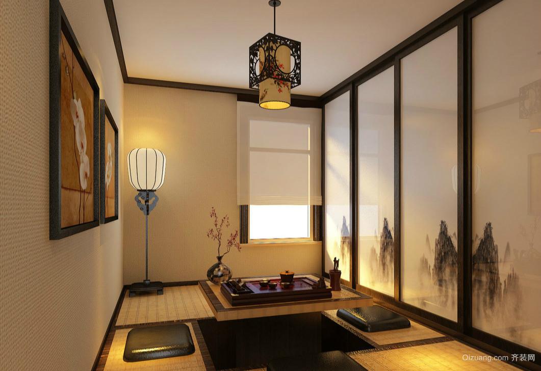 2016中国风格调的茶室榻榻米装修效果图