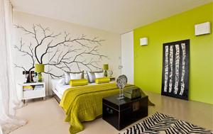 清新素雅小公寓卧室设计装修效果图