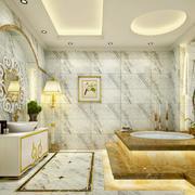 大户型别墅欧式古典风卫生间设计效果图