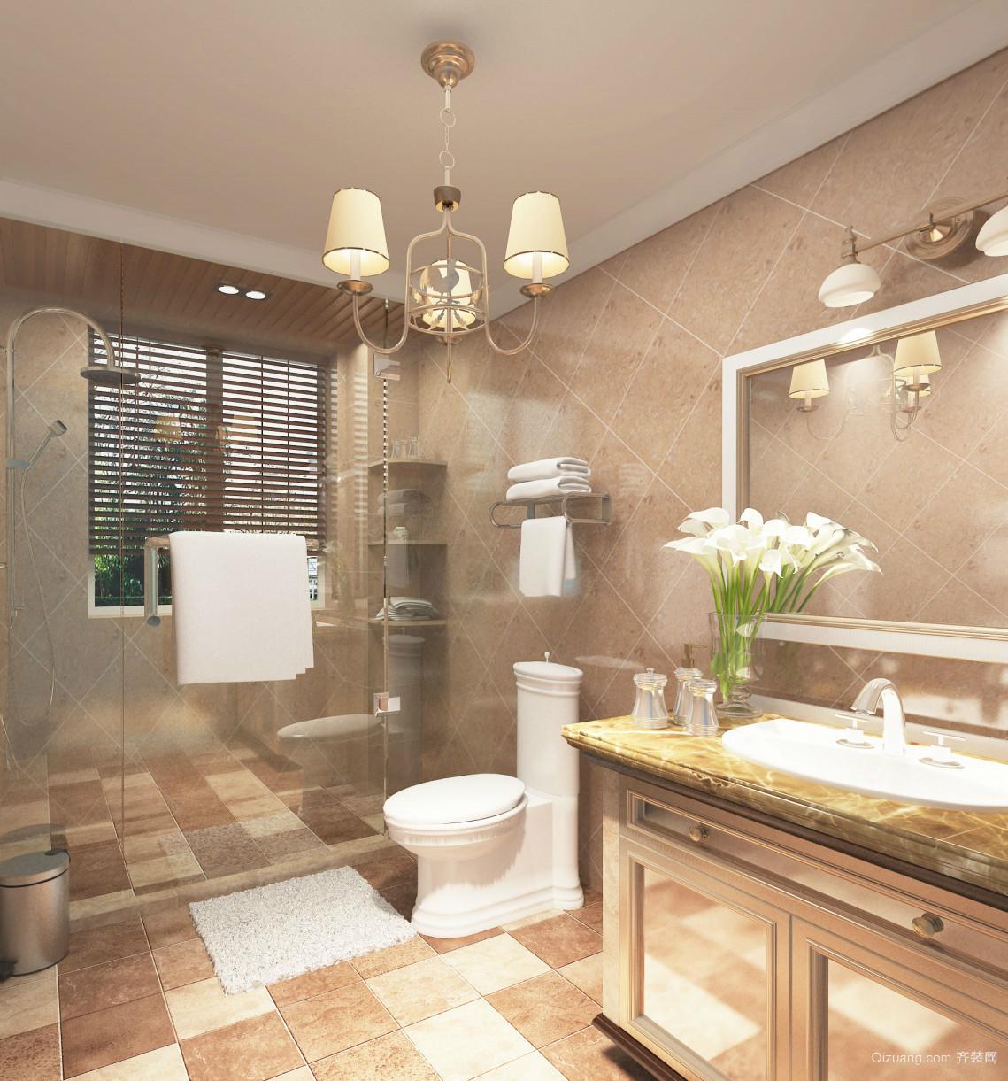 优雅别致的简欧风格小卫生间设计效果图