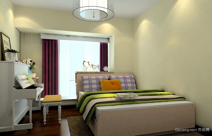 小清新15平米琴房榻榻米床装修效果图