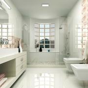 浅色调现代时尚卫生间设计效果图