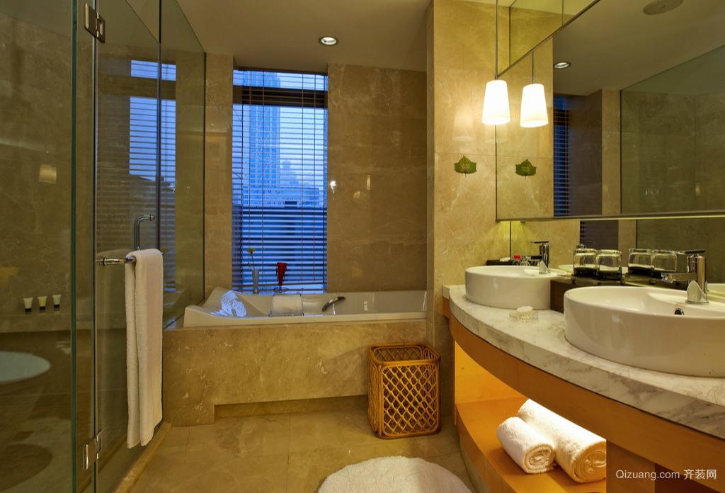 222平米家居暖色调的卫生间设计效果图