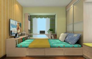 舒适轻快的儿童房榻榻米床装修效果图