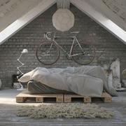 迥异独特的小阁楼卧室设计装修效果图