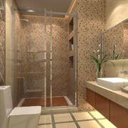 自然朴素的两居室卫生间瓷砖设计效果图
