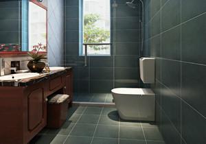 81平米两居室混搭风格卫生间设计效果图