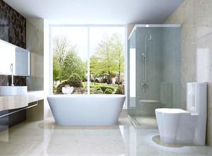 单身公寓现代简约卫生间设计效果图